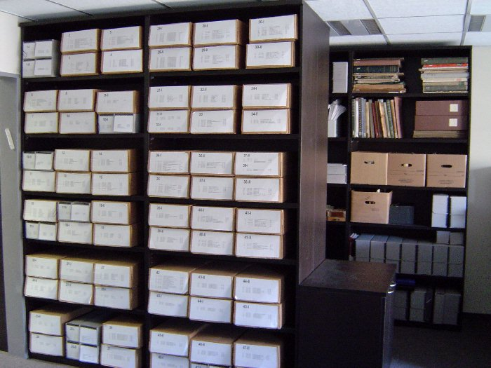 The Albert Einstein Archives at the new location in the Levi building